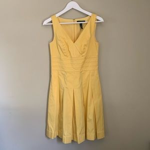 Yellow •Altered• A-Line Dress w/ Pockets! Size 2